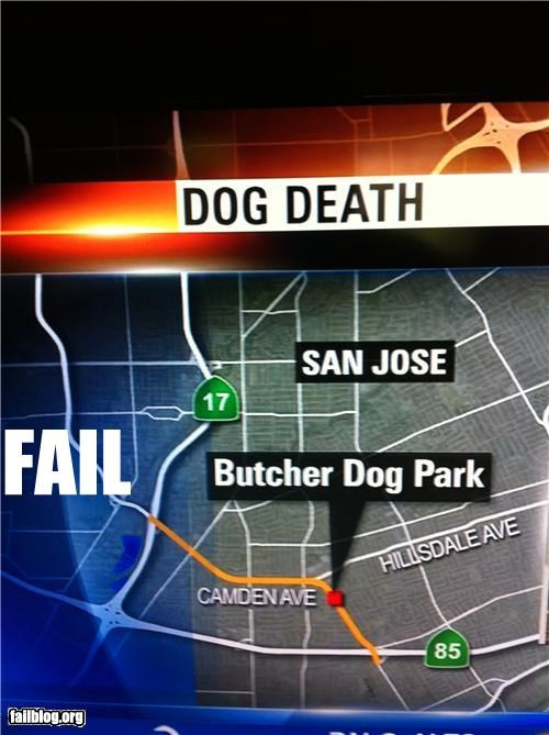 bad idea Death dogs failboat irony news park names parks pets - 4671616256