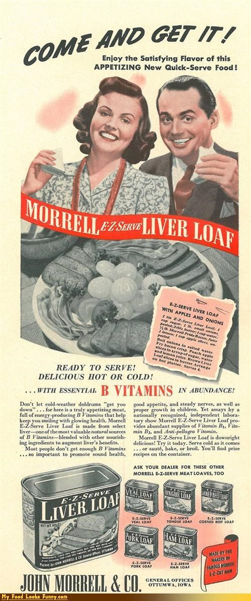 Ad advertising liver loaf magazine pate vintage