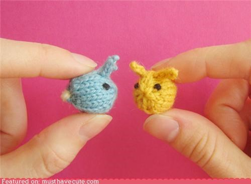 bunnies craft DIY knitting tiny yarn - 4671696896