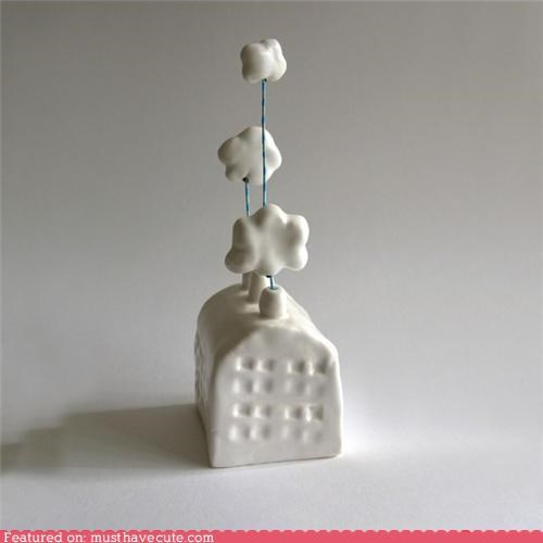 art building ceramic chimneys clouds factory sculpture - 4671701248