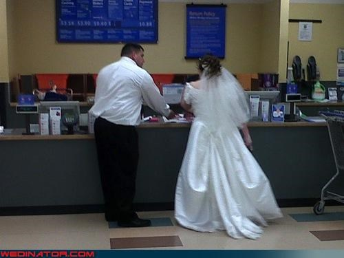 bride,funny wedding photos,groom,Walmart