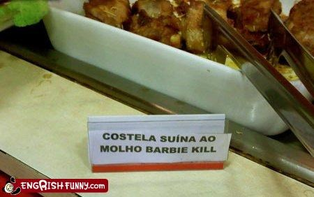 barbecue,Barbie,engrish,kill,toy