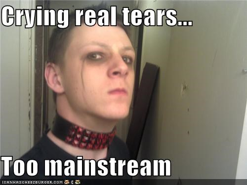 crying emo mainstream makeup tears - 4671917568