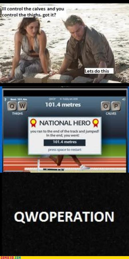 Inception QWOP video game - 4671995904