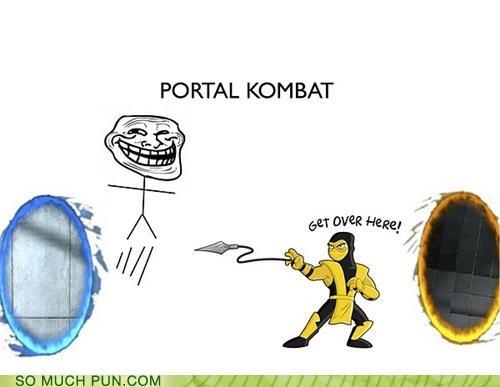 combat juxtaposition meme Mortal Kombat Portal portals portmanteau rage comic Rage Comics scorpion trollface - 4672001024