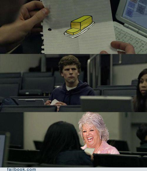 butter,meme,paula deen,zuckerberg note pass