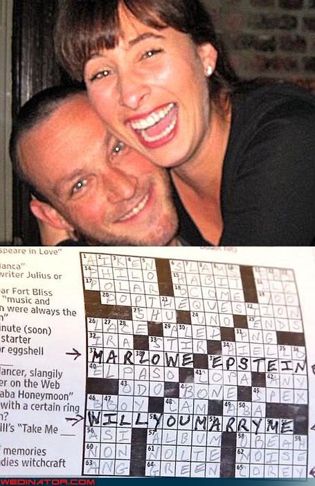 crossword puzzle,funny wedding photos,proposal