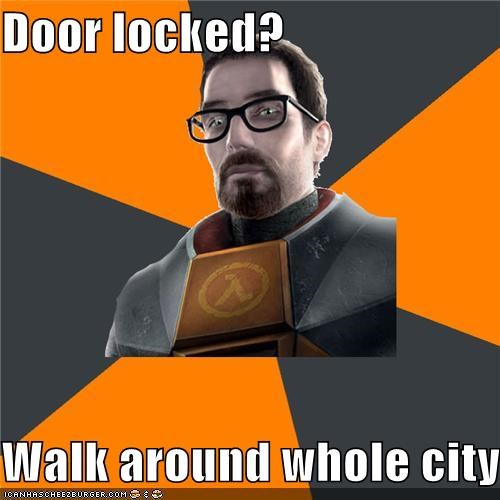 door,doors,gordon freeman,lazy,Memes,walk,weak