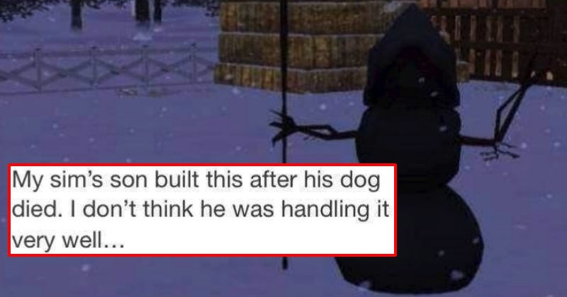 Collection of moments from The Sims that'll tickle your dark humor funny bone.