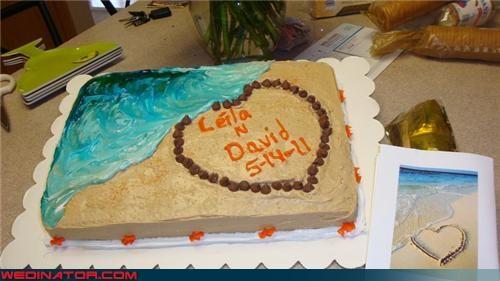 beach bridal shower cake funny wedding photos ocean themed wedding cake - 4672291328