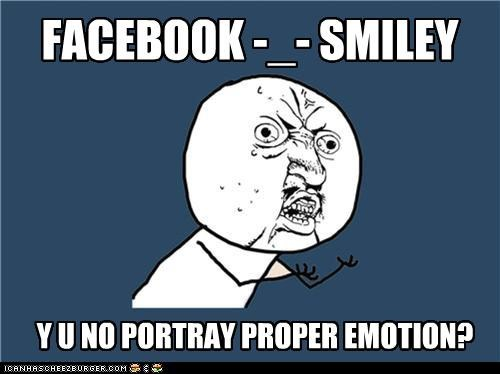 emoticons facebook smiley Y U NO Y U No Guy - 4672374784