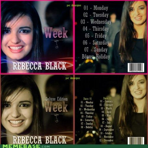 album,Rebecca Black,tracks,week