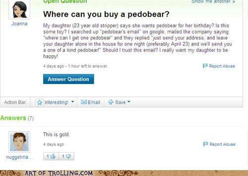 bear email pedobear Yahoo Answer Fails - 4672471552