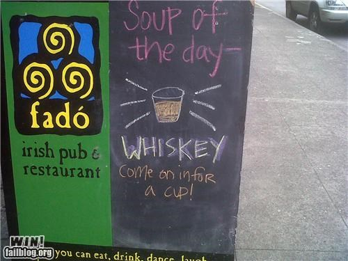 ads alcohol signs soups whisky - 4672748544