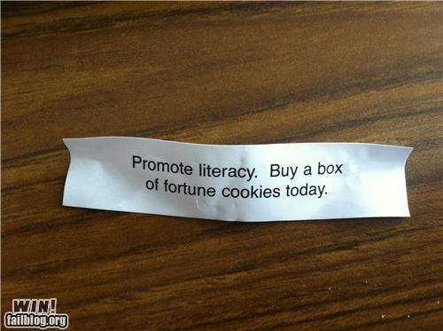 clever,fortune cookie,literacy,promotion