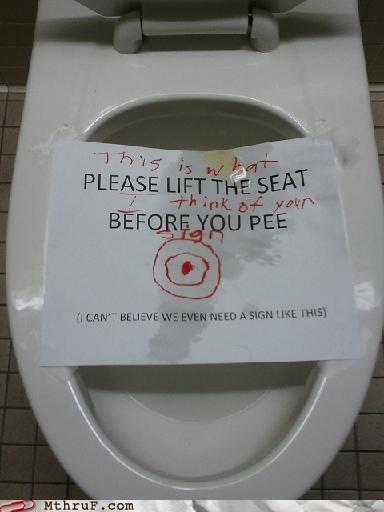 bathroom sign warning - 4672896768