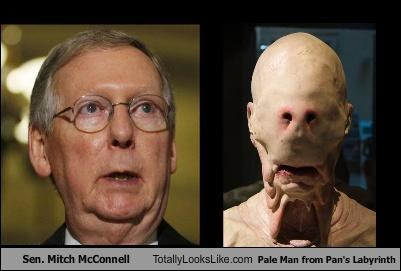 Sen. Mitch McConnell Totally Looks Like Pale Man from Pan's Labyrinth