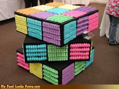Pastel,peeps,puzzle,rubix cube,toy,uge