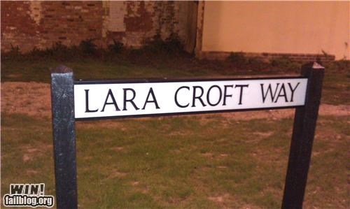 nerdgasm street name Tomb Raider video games