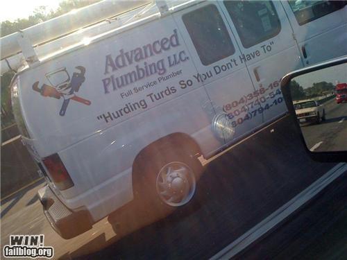 business clever plumbing poop slogans van - 4674387712