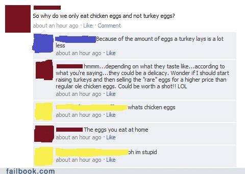 chicken egg facepalm stupid - 4674953472