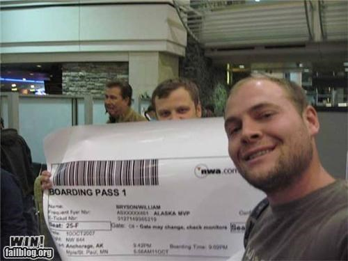 airports boarding pass oversized things are funny Travel - 4675076608