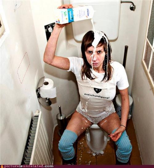 bathroom eww milk wtf - 4675224832