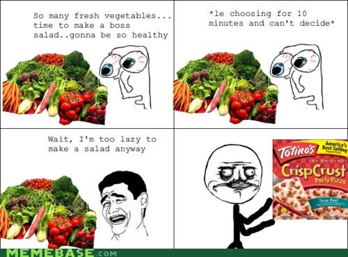 boss,crust,pizza,Rage Comics,salad,vegetables