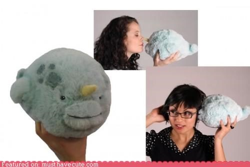 blue mini narwhal plushy whale - 4675413248