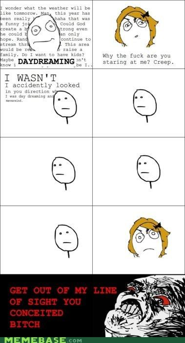 conceit,ladies,line of sight,Rage Comics