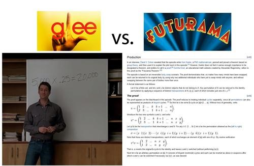 bad example,Compare And Contrast,futurama,glee,What The Kids Are Watchin