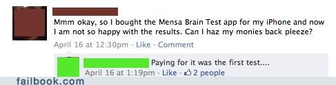 mensa,oh snap,your friends are laughing at you