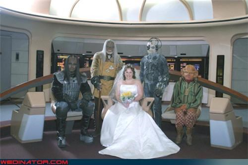 funny wedding photos,Star Trek