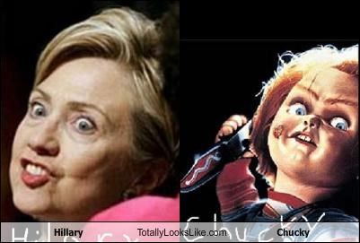 Chucky dolls Hillary Clinton movies politicians