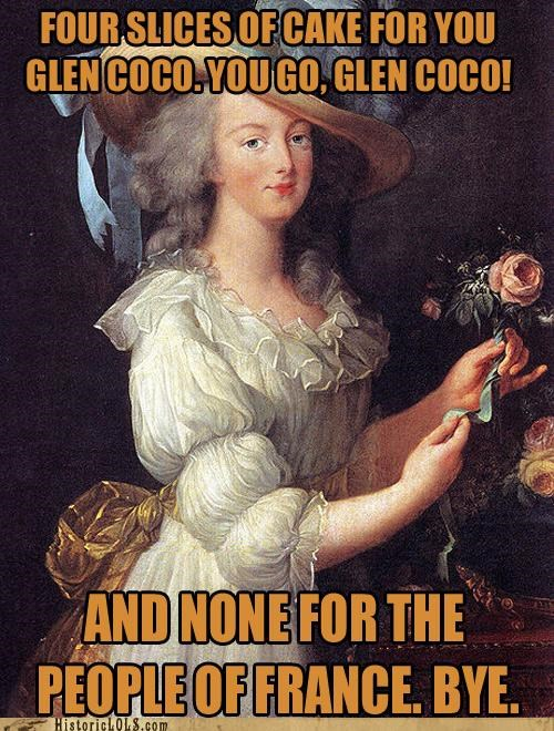funny historic lols marie antoinette mean girls painting portrait - 4676249856