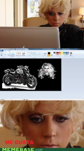 born this way,forever alone,lady gaga,me gusta,motorcycle
