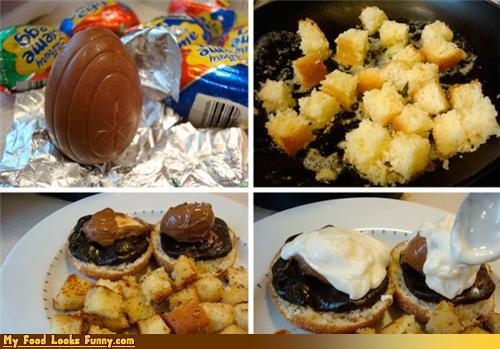 cadbury creme egg eggs eggs benedict - 4676540928