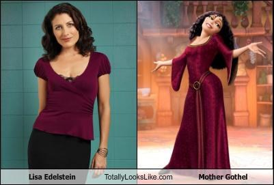 disney,funny,lisa edelstein,mother gothel,tangled,TLL