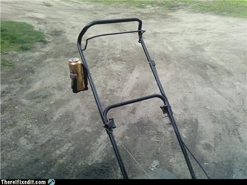 beer cup holder improvements lawnmover