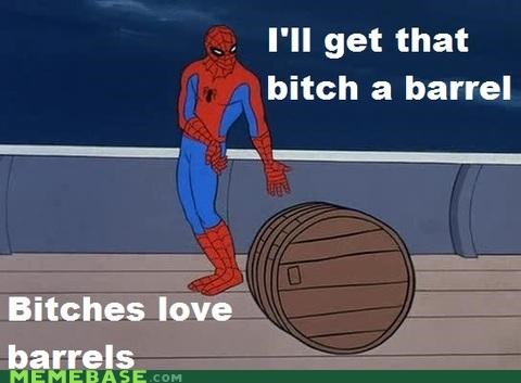 barrels cartoons Ladies Love Spider-Man superheroes - 4677396480