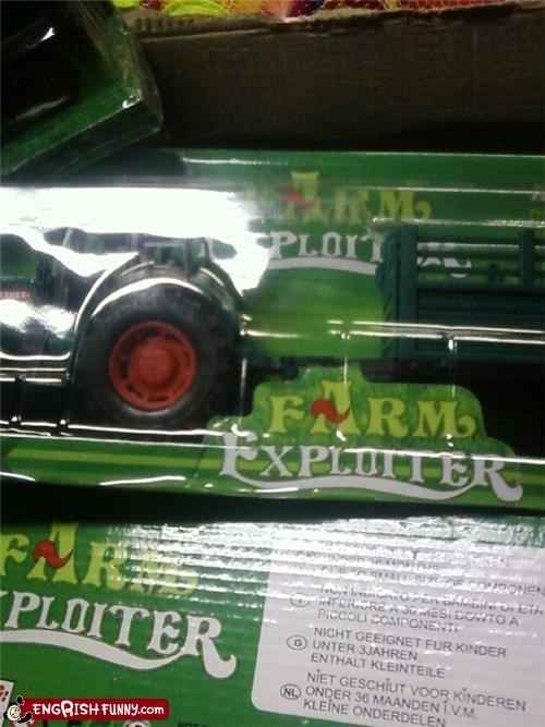 exploit toy tractor