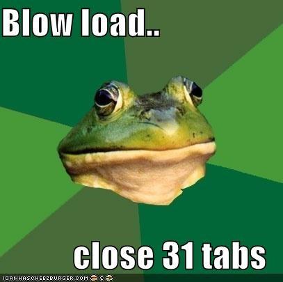bachelor,foul,foul bachelor frog,frog,load,masturbation