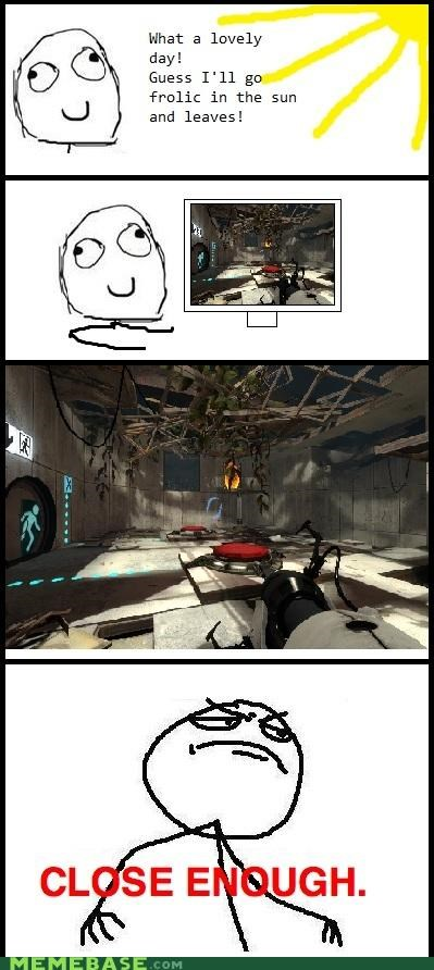 laser,outside,Portal,Rage Comics,rays,spaaaaaaaaaaaace,sun,thermal encouragement,video games