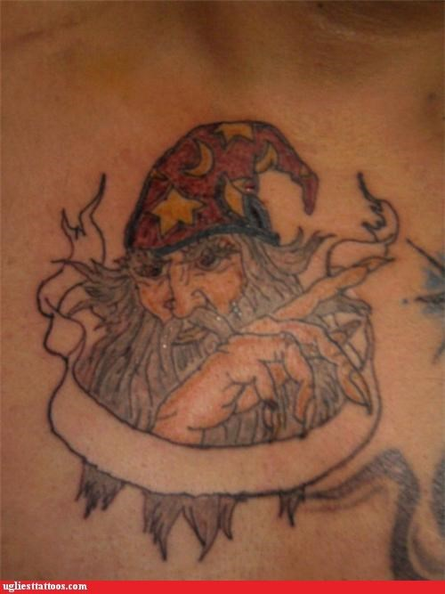 bad FAIL tattoos wizards funny - 4678454272