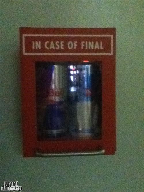 awesome,education,emergency,exams,finals week,red bull