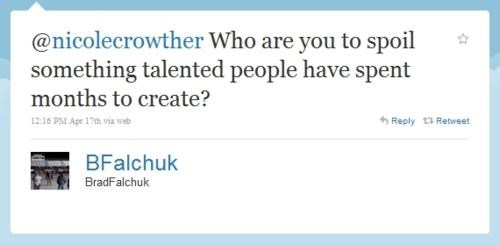Brad Falchuk,glee,Spoiler Alert,tweet