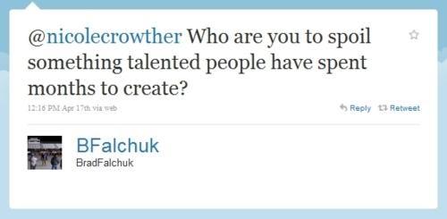 Brad Falchuk glee Spoiler Alert tweet - 4678559744