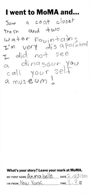 Kids Letters To MoMA,kids these days,MoMA