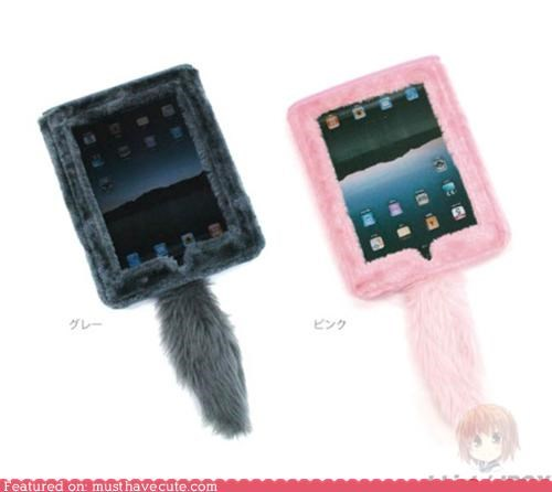 case cat furry fuzzy ipad tail