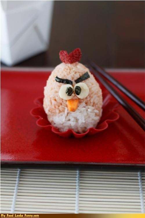 angry birds bird onigiri red rice sushi